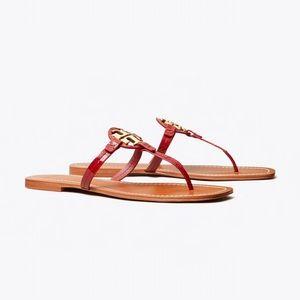 Tory Burch Shoes - NEW Tory Burch Mini Miller Dark Redstone Sandals